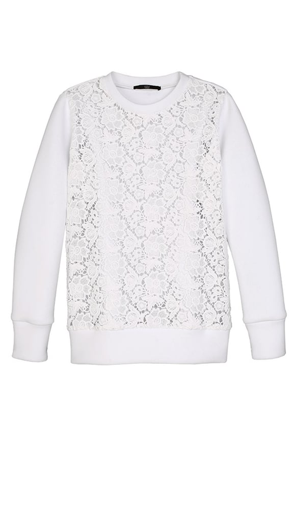 I can't get enough of Tibi — I would live in this Tibi Sigrid Lace Sweatshirt ($425) all Winter with skinny jeans and cozy trousers and then in Spring with floral skirts. I could probably think of a million ways to wear it — and I would — I love it that much. — Hannah Weil, associate editor