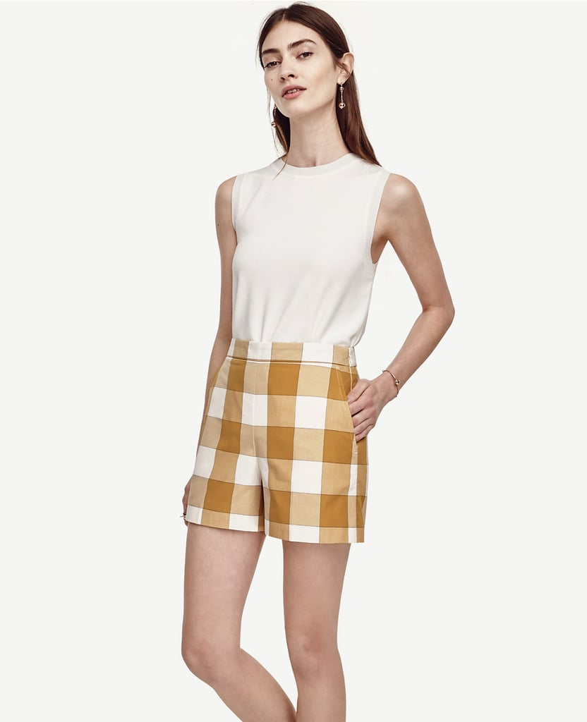 Ann Taylor High Waist Gingham Shorts ($50)