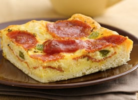 Recipe For Fast and Easy Pepperoni Quiche Dinner