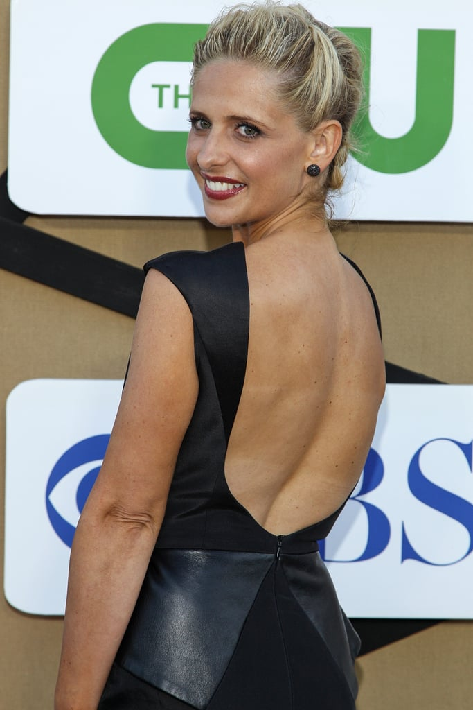 Sarah Michelle Gellar, star of the upcoming show The Crazy Ones, attended the CW, CBS, and Showtime party as part of the Summer Television Critics Association Press Tour in LA.