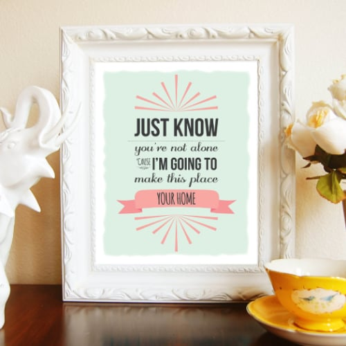 Song Lyric Artwork For Kids Rooms