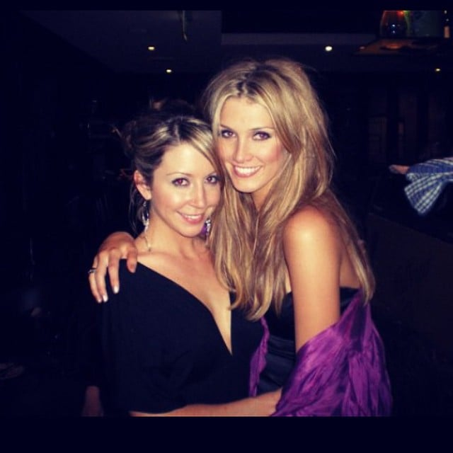 Delta Goodrem celebrated her 30th birthday with a childhood friend.