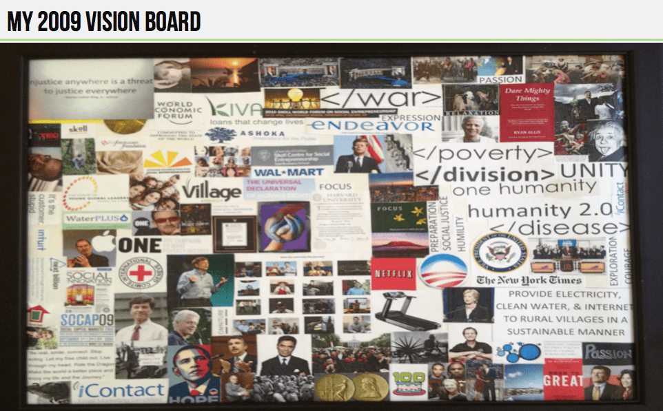 This Is Ryan Allis's Vision Board