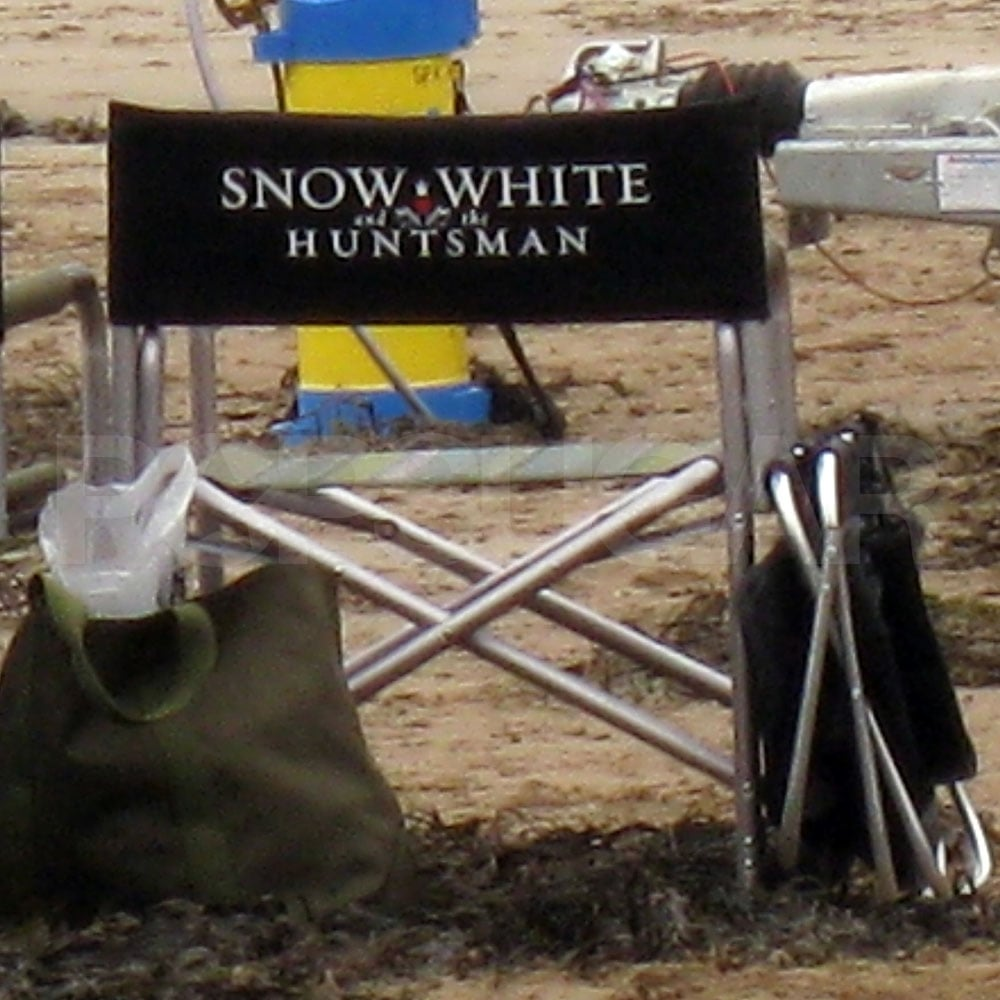 A director's chair on the Snow White and the Huntsman set.