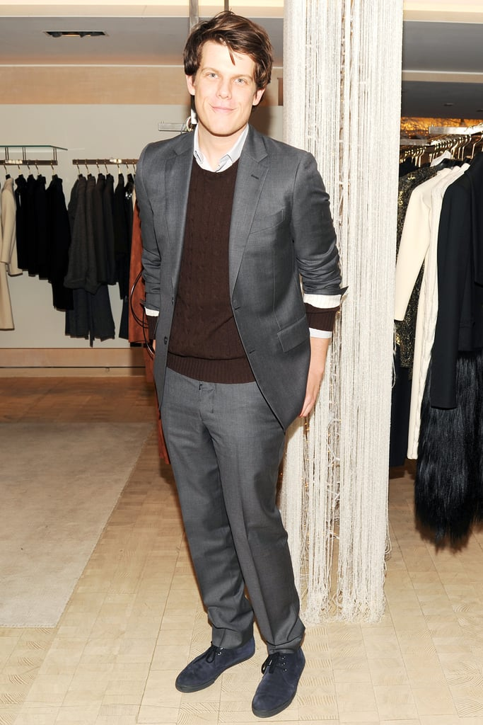 Wes Gordon at Bergdorf Goodman's Fifth Avenue holiday windows unveiling.
