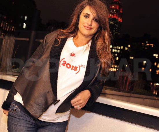 Slide Picture of Penelope Cruz Participating in World AIDS Day From NYC