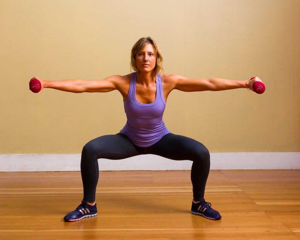 Plié Squat With Lateral Arm Raises