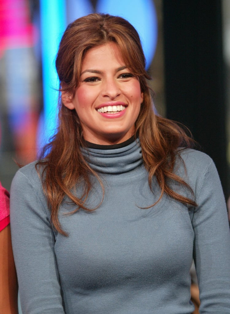 Eva Mendes promoted Out of Time on TRL in 2003.