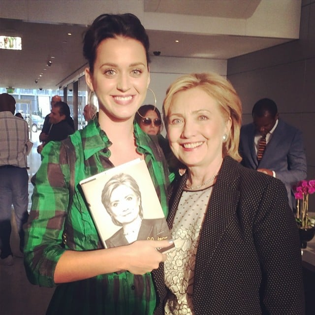 """Katy Perry posed with Hillary Clinton and told her she'd write her a """"theme"""" song. Source: Instagram user katyperry"""