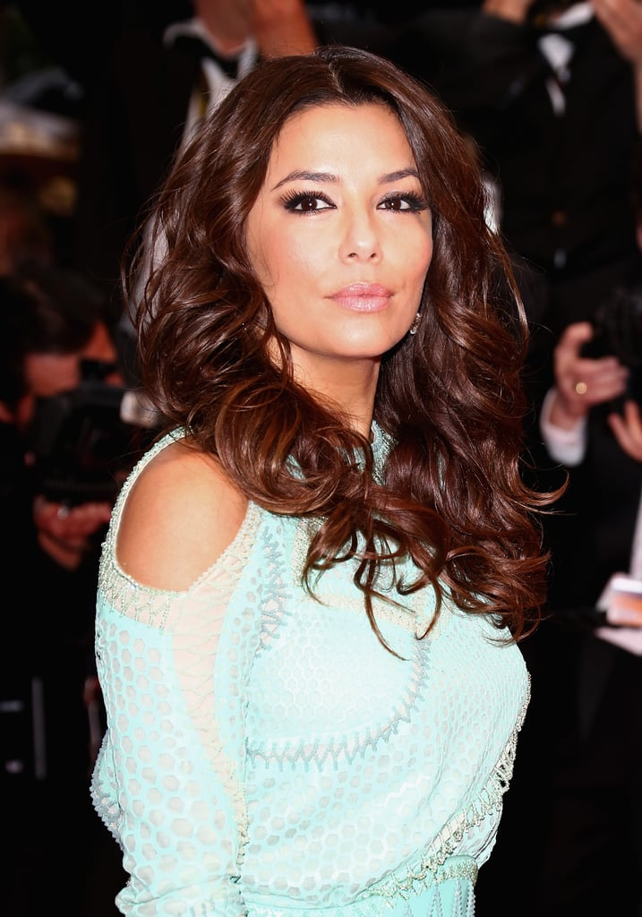 Eva Longoria's lashes were looking fab, and we love her big hair.