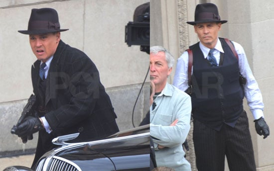 "Photos of Johnny Depp on the Set of ""Public Enemy"""