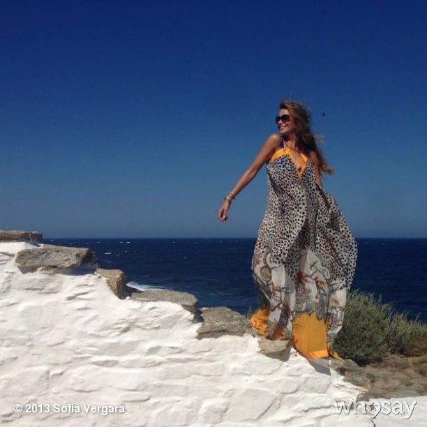 Sofia Vergara shared a gorgeous scenery shot during her vacation in Mykonos, Greece. Source: Sofia Vergara on WhoSay