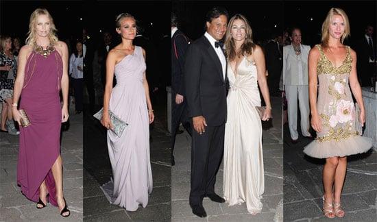 Charlize, Claire, Elizabeth, and Diane Honor Emperor Valentino