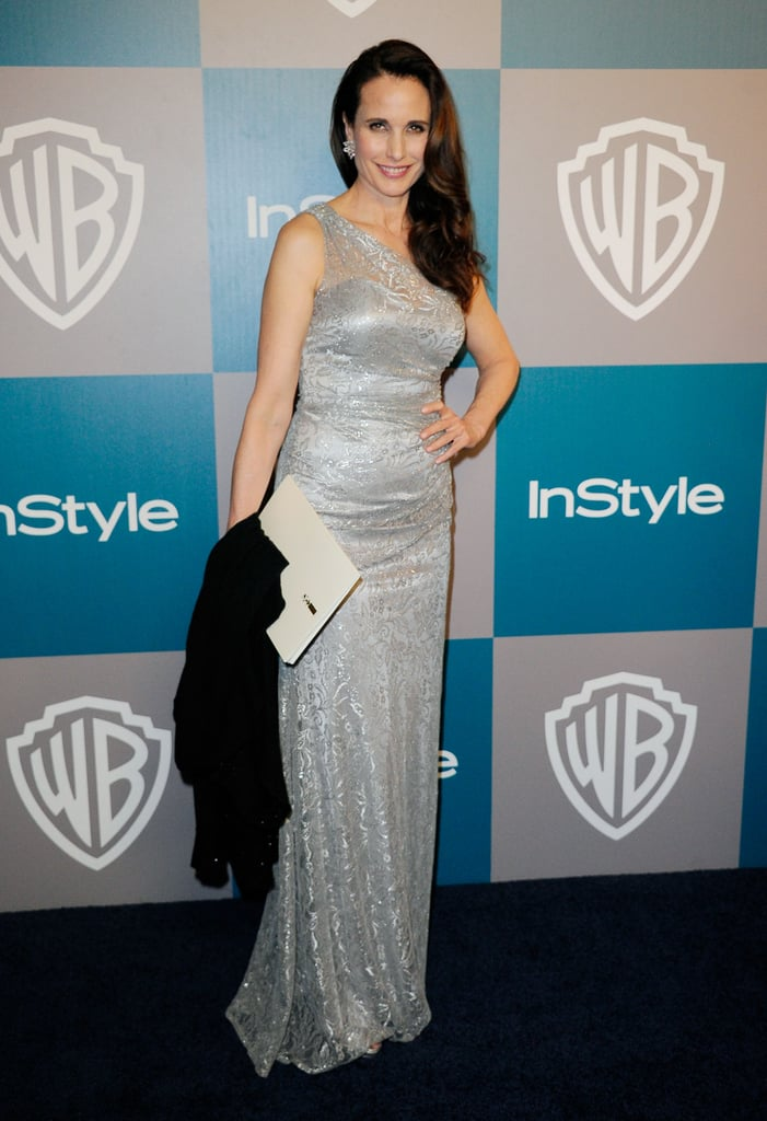 Andie MacDowell arrived at InStyle's Golden Globes afterparty.