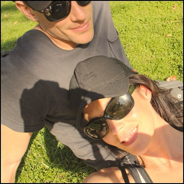 Shaun Hampson and Megan Gale soaked up the sunshine. Source: Instagram user megankgale