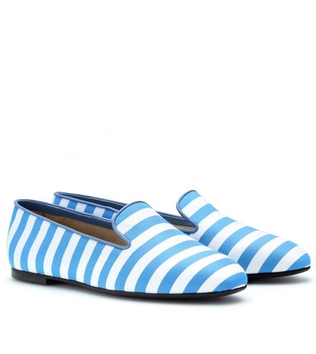 Tod's STRIPED SLIPPER-STYLE LOAFERS