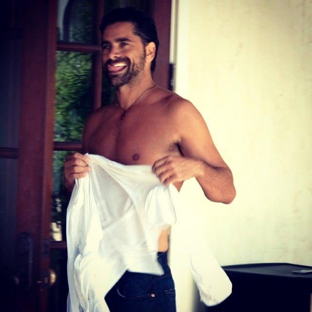 Have mercy! When John Stamos posted this shirtless photo, he nearly broke the Internet. Source: Instagram user johnstamos