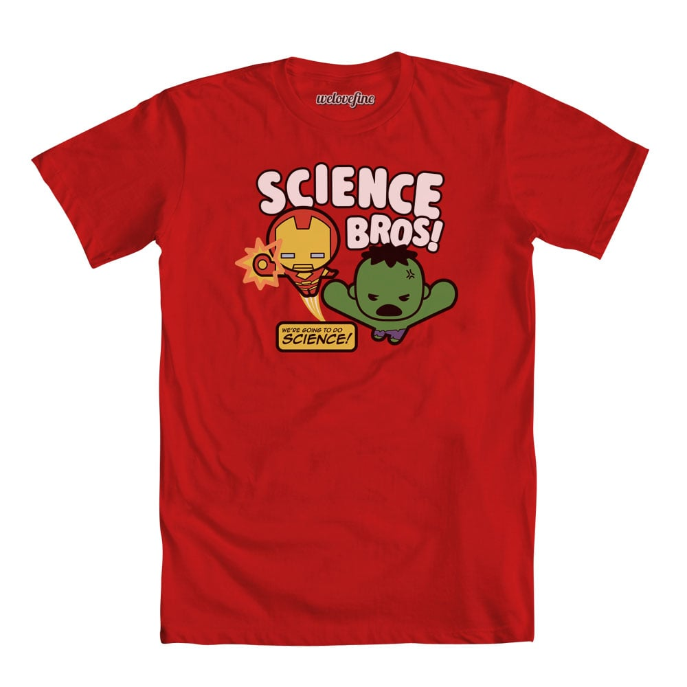 What's the theme of today? Science, bro! Ironman and Hulk love STEM education ($25).