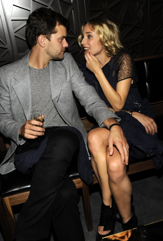 Diane Kruger and Joshua Jackson stayed close at a party in NYC in October 2008.