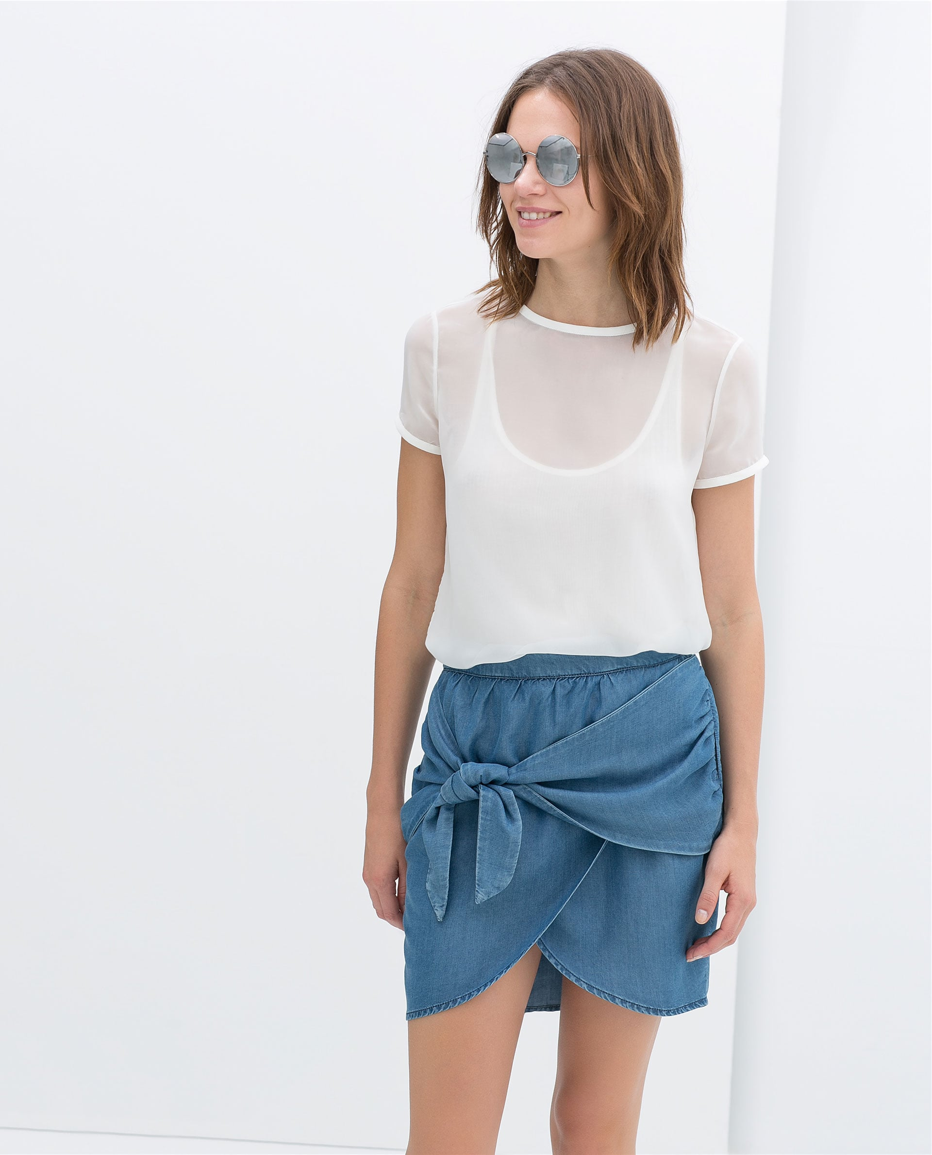 Crossover Skirt With Bow ($40)