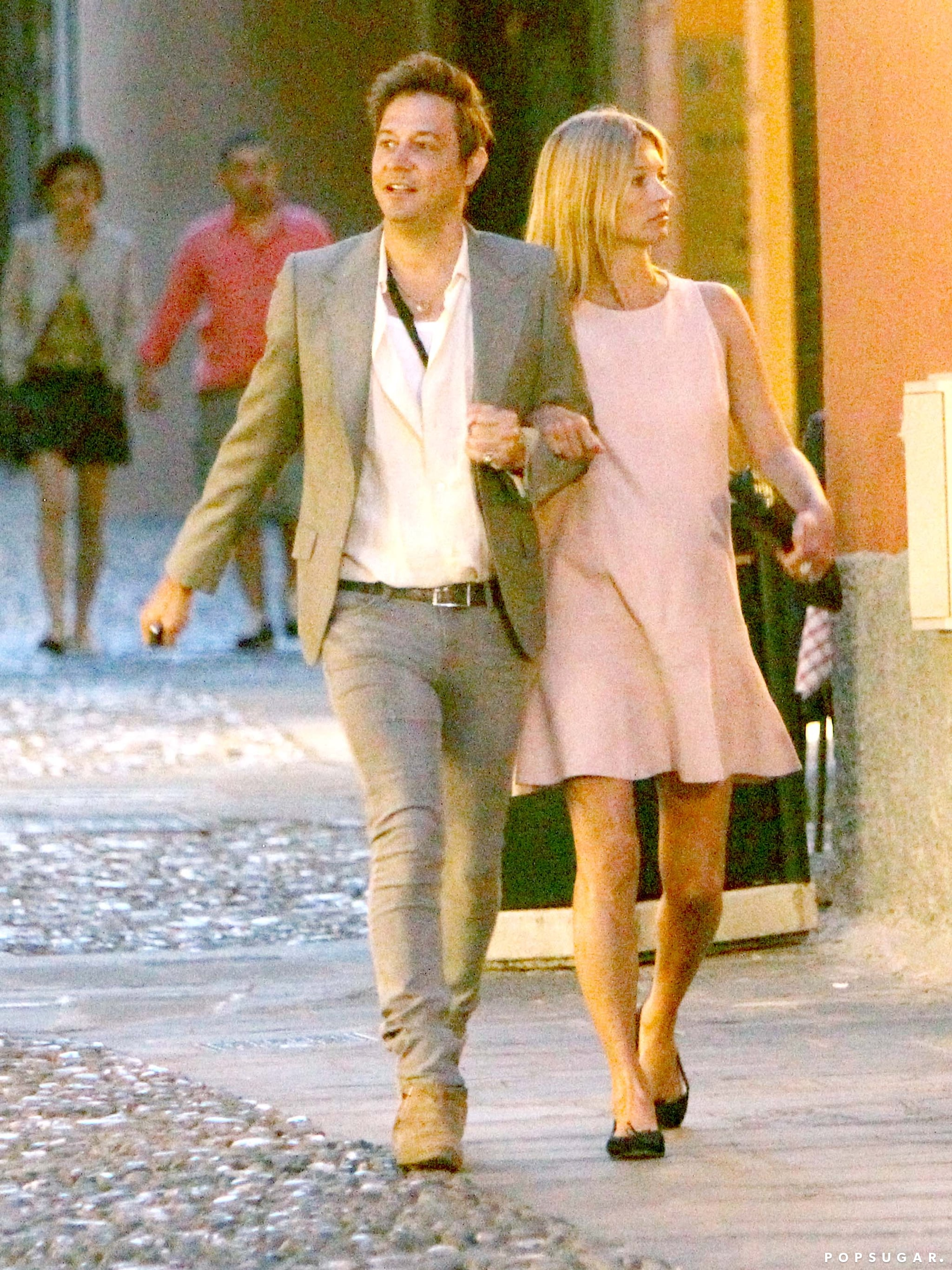 Kate Moss and Jamie Hince strolled to dinner together in Portofino, Italy.