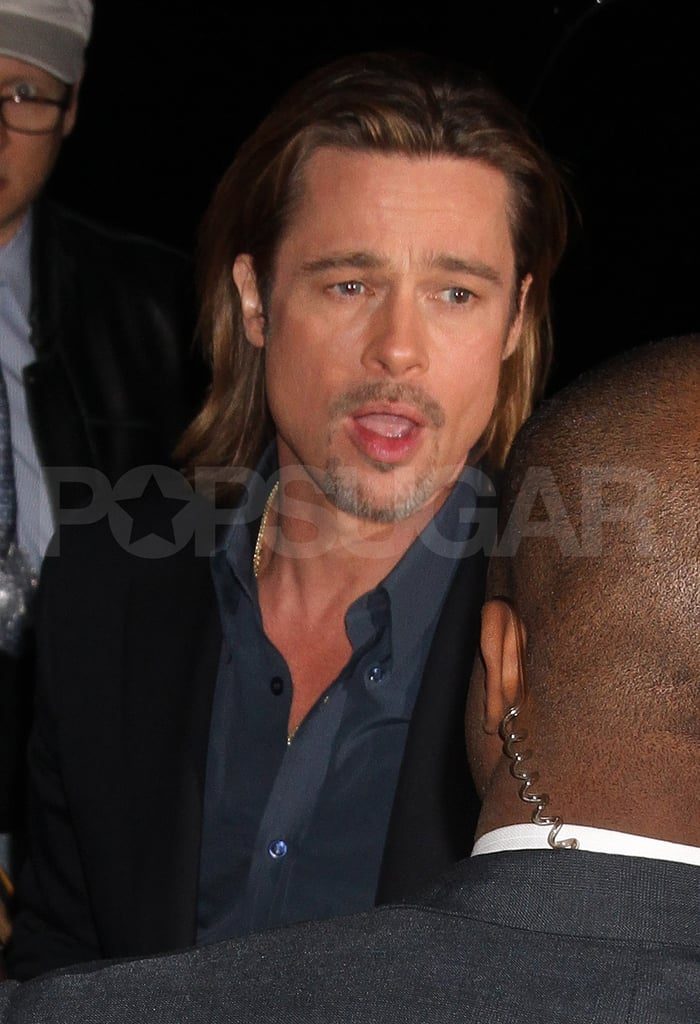 Brad Pitt was handsome for The Daily Show.