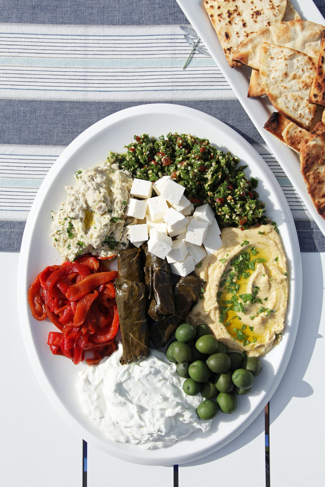 Mezze Platter With Grilled Pita