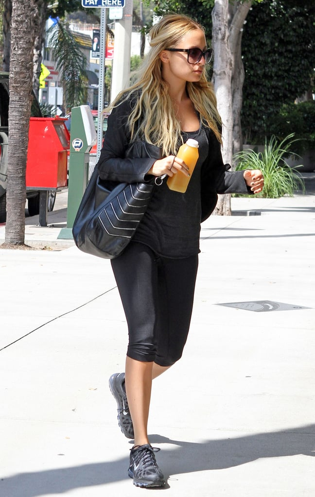 Nicole Richie with her favorite juice.
