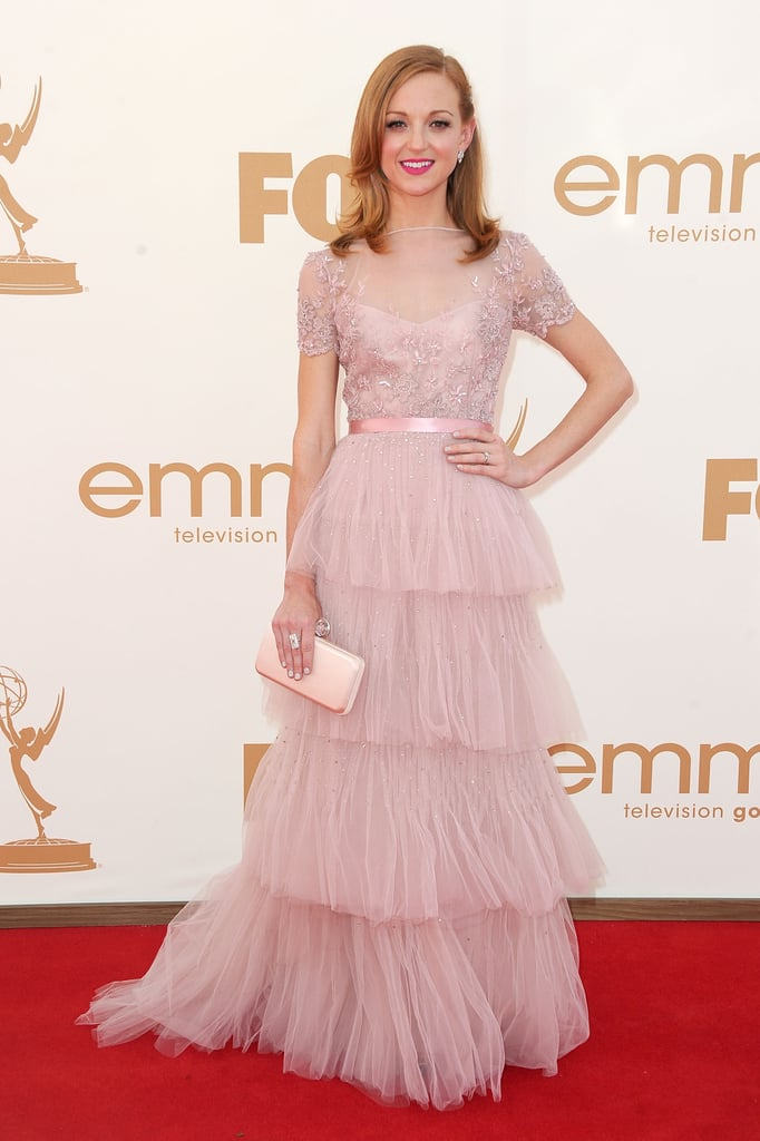 Jayma Mays at the 2011 Emmy Awards.