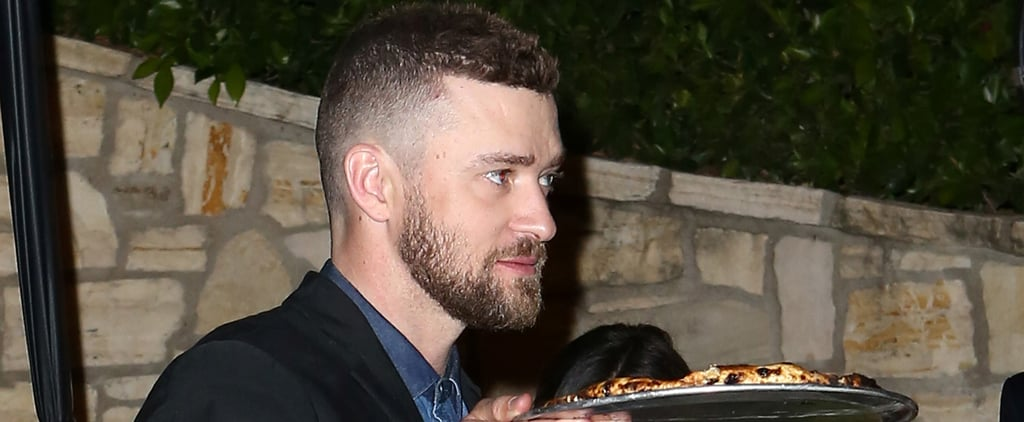 Justin Timberlake Takes Some Pizza to Go at a Pre-Oscars Party With Jessica Biel