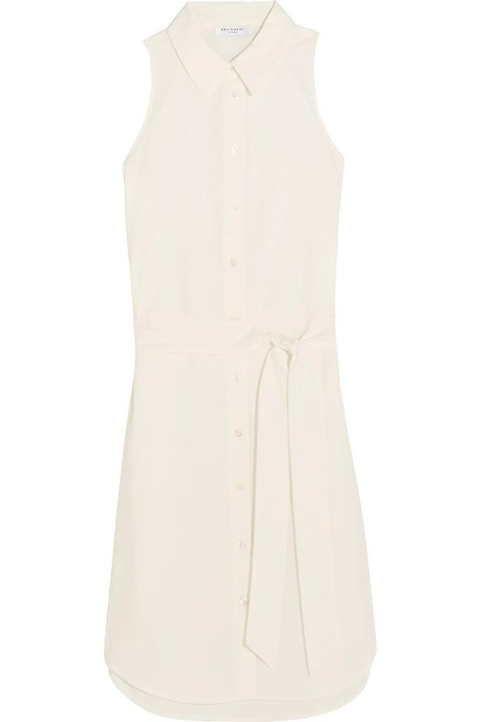 Equipment Claudia belted cotton shirt dress ($200)