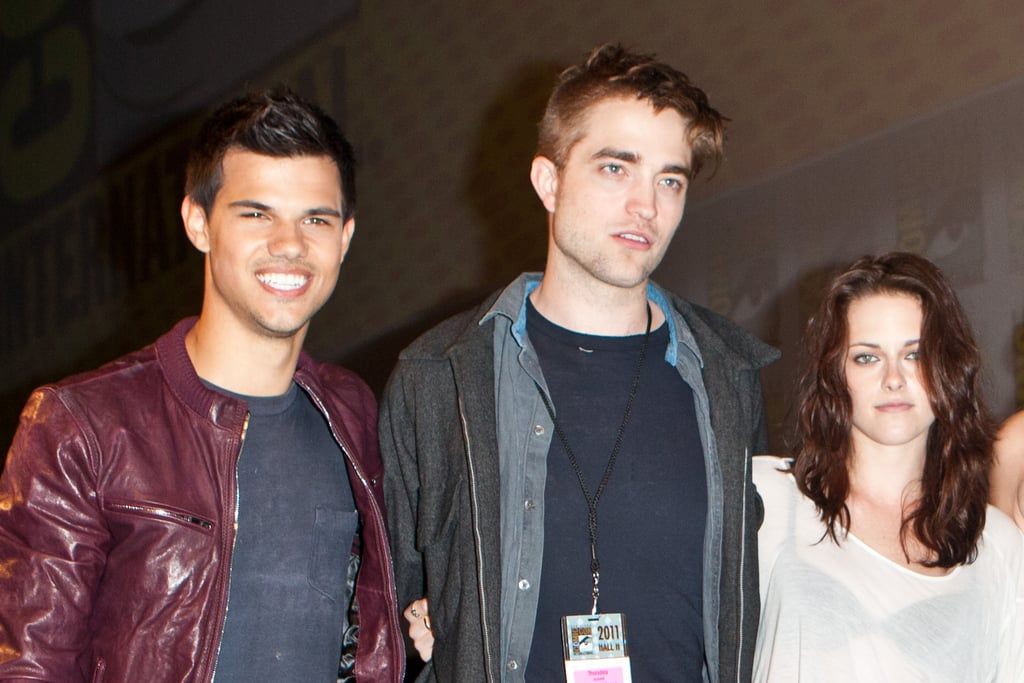 Kristen Stewart, Robert Pattinson and Taylor Lautner posed together in 2011.
