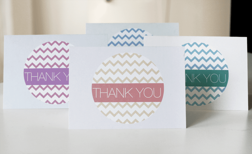 Chevron Thank You Card