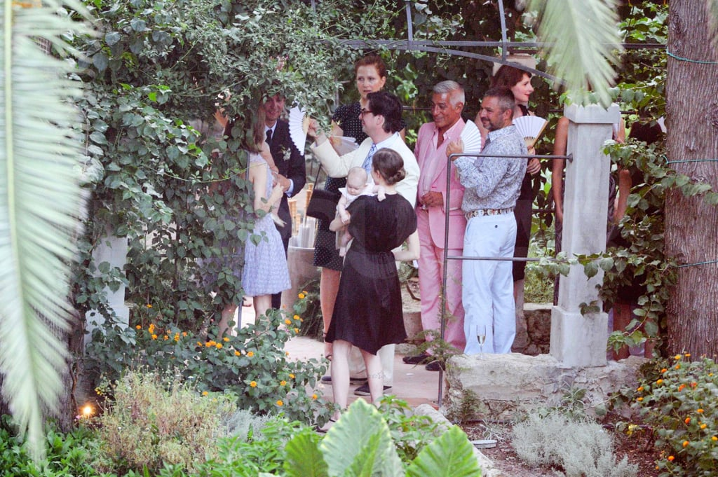 The newlyweds took photos with friends and family.