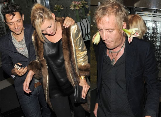 Photos of Jamie Hince and Kate Moss Out For Dinner Together In London, Rhys Ifans With Flowers In His Ears