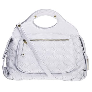 The Bag to Have: Gryson For Target Patent Woven Bag With Cutout Handles
