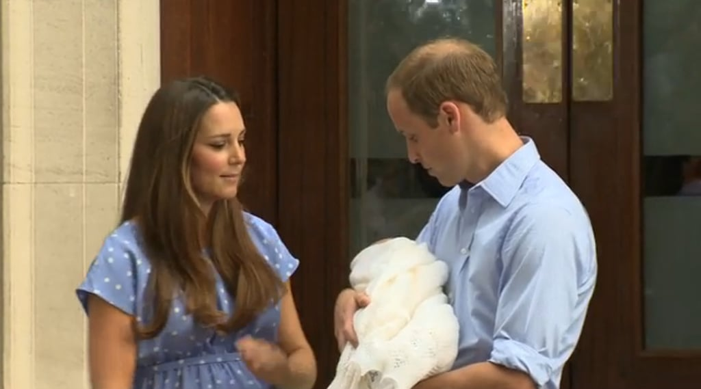 New parents Prince William and Kate Middleton left St. Mary's Hospital in London with the royal baby.