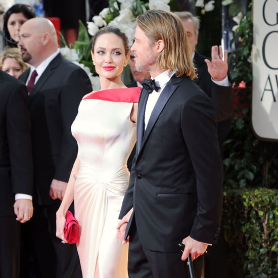 Brad Pitt and Angelina Jolie Golden Globes Pictures 2012