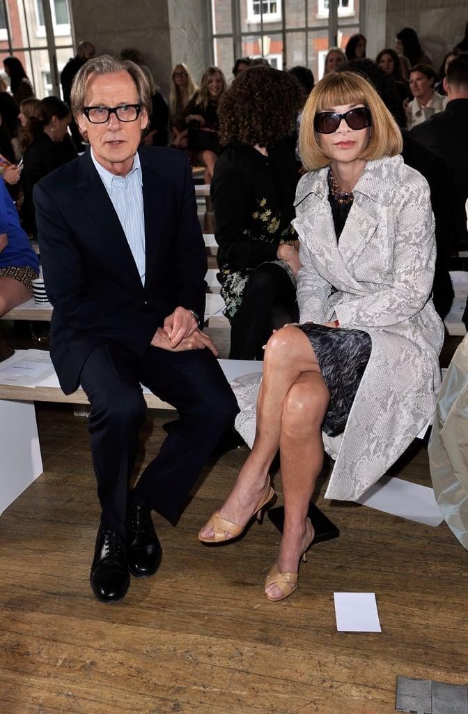 Bill Nighy and Anna Wintour at Nicole Farhi