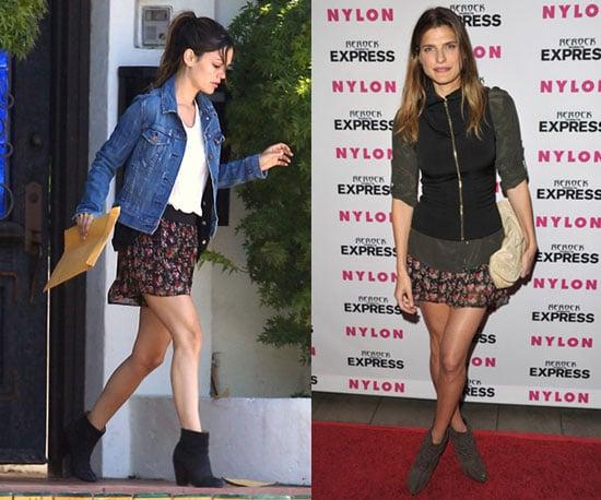 Lake Bell and Rachel Bilson Wear the Same Floral Miniskirt