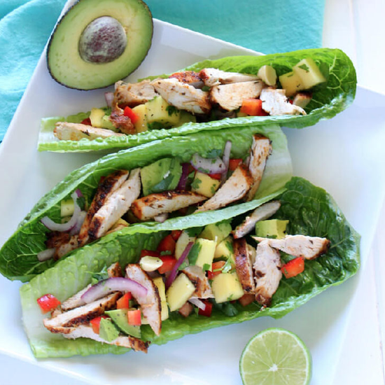 Chicken Mango Lettuce Wraps Recipe