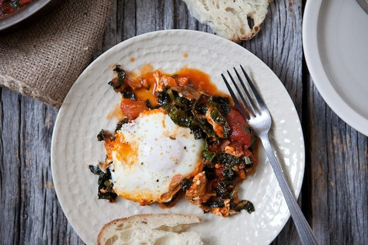 Eggs Baked in Kale-Tomato Sauce