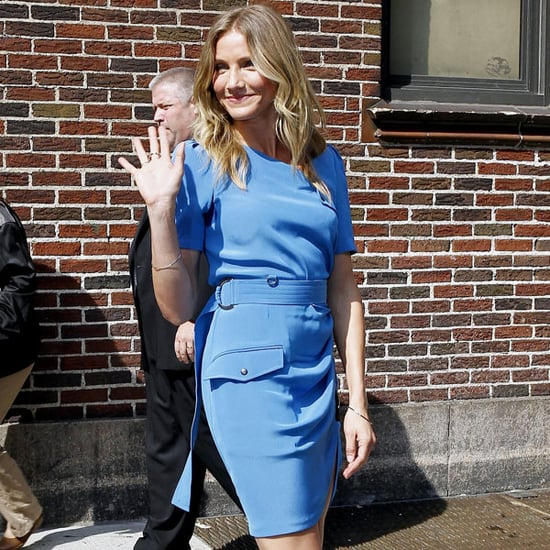 Pictures of Cameron Diaz at The Late Show