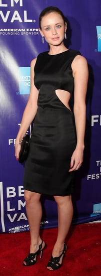 """Actress Alexis Bledel Wears a Black Cut Out Cushnie et Ochs Dress to """"The Good Guy"""" Premiere at Tribeca Film Festival"""