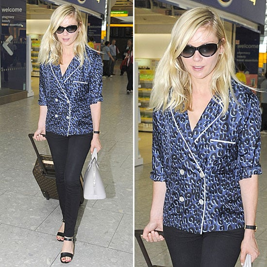 Kirsten Dunst Pajama Trend May 2012