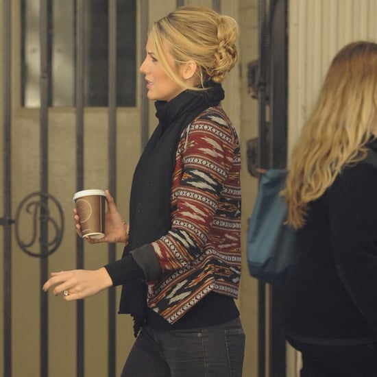 Blake Lively Wearing Diamond Engagement Ring | Pictures