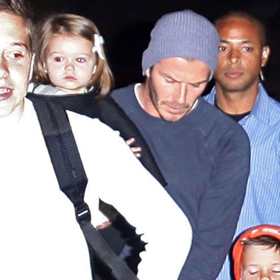 David and Victoria Beckham Leave LAX With Harper | Pictures