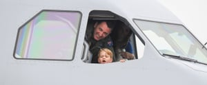 Prince George Proves He's His Dad's Mini Me by Pretending to Fly a Plane