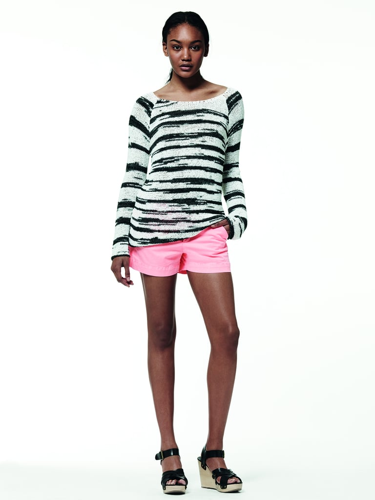 For the funkier styler, this bright pink and striped pairing is a fun way to mix it up.