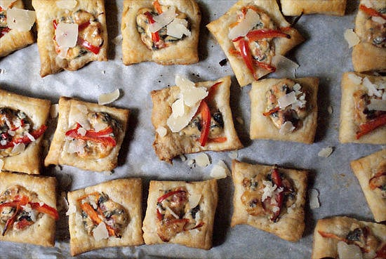Spinach, Bell Pepper, and Parmesan Tartlets